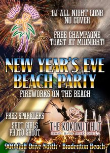 New Year's Celebration @ Gulf Drive Cafe & The Kokonut Hut    Bradenton Beach   Florida   United States