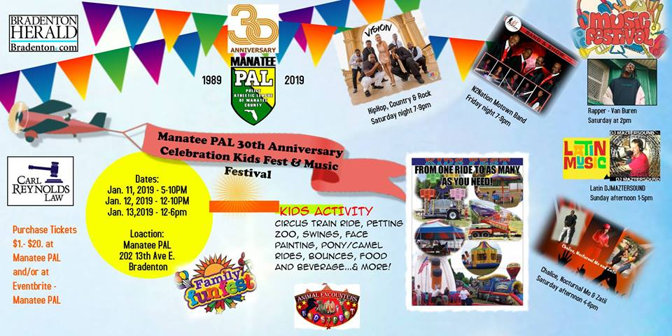 Manatee PAL 30th Anniversary Kids Fest & Music Festival